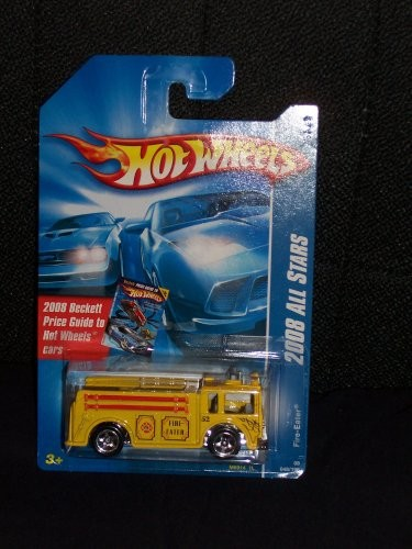 Hot Wheels 2008 048 48 Yellow Variant Fire Eater on Beckett Price Guide Card