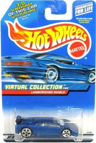 Upc 033170512349 Hot Wheels Blue Lamborghini Diablo 2000 1 64