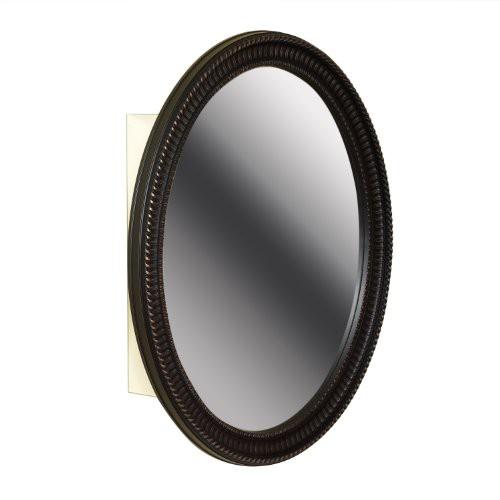 Upc 043197131720 Zenith Bmv2532bb Oval Mirror Medicine Cabinet