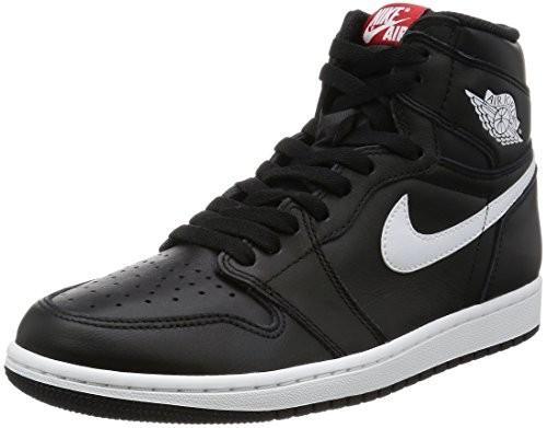 ad73292b7ded UPC 091206743716. Nike Air Jordan 1 Retro High OG Black White Mens  Basketball Shoes ...