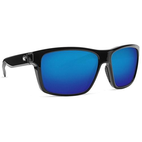 792f2b0483 Costa Del Mar slack tide shiny black frame blue polarized 580P lens  sunglasses