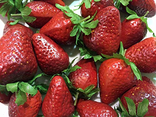Upc 343393360994 Artificial Strawberry Bag Of 24 Decorative Fruit Berries Strawberries Kitchen Decor Food Lemons Peach Grapes Cherry Apple Realistic Barcode Index