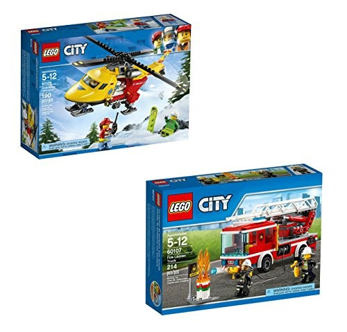 Upc 608415032151 Lego City Fire Ladder Truck 60107 Ambulance