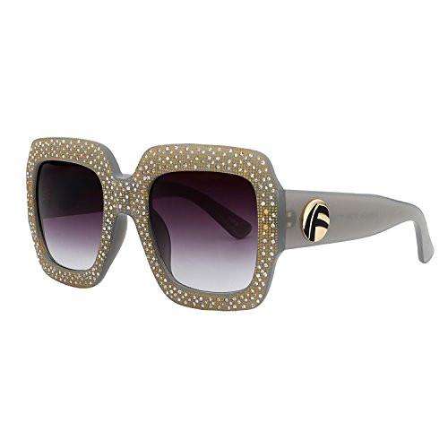 3e7e615ab3 visibility. UPC 614324295853. ROYAL GIRL Square Sunglasses For Women  Vintage Oversized Inspired Designer Crystal Shades ...