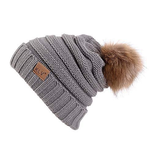6a4812db02d UPC 647288006821. Gillberry Women Winter Crochet Hat Wool Knit Beanie  Raccoon Warm ...