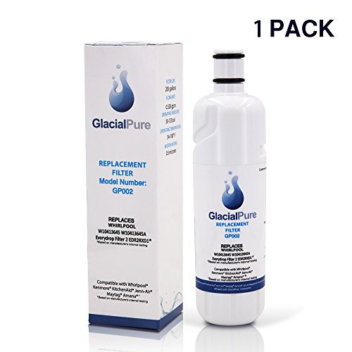 Glacial Pure EDR2RXDI WI04I3645A Refrigerator Water Filter Replacement For  Whirlpool Refrigerator Water Filter 2 Kenmore