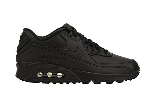 check out 68b89 0c3f7 Nike Mens Air Max 90 Leather Running Shoes Black/Black 302519-001 Size 13