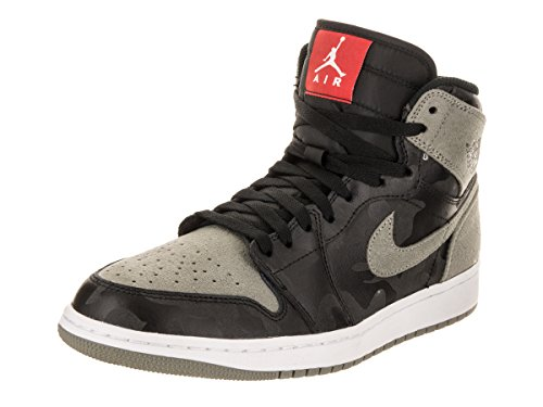 20737e69d95 Mens Air Jordan 1 Retro High Premium Shadow Camo Black Dark Stucco Whi