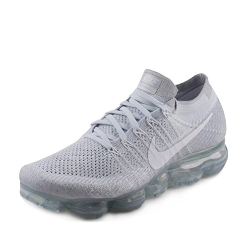 huge discount 4c284 0854b UPC 666032989241. Nike Men s Air VaporMax Flyknit Running Shoe Pure Platinum  White-Wolf Grey 12.0