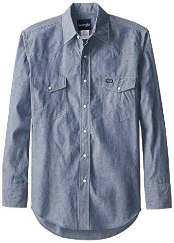 2bce25afcf UPC 672787832534. Wrangler Men s Authentic Cowboy Cut Work Western Long-Sleeve  Firm ...