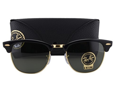 cb0c8c94240 UPC 674895894312. Ray-Ban RB3016 Clubmaster Sunglasses Black ...