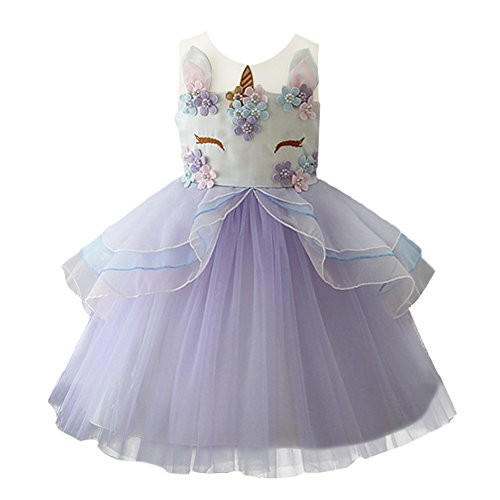 4b374078c3191 visibility. UPC 677892250938. Baby Girls Flower Unicorn Costume Cosplay  Princess Dress up Birthday Pageant Party Dance Skirt Outfits Short Evening  Gowns ...