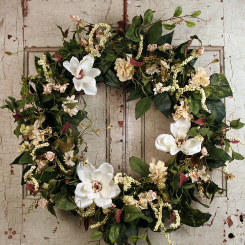 Upc 700587024597 Magnolia Silk Spring Front Door Wreath For Outdoors