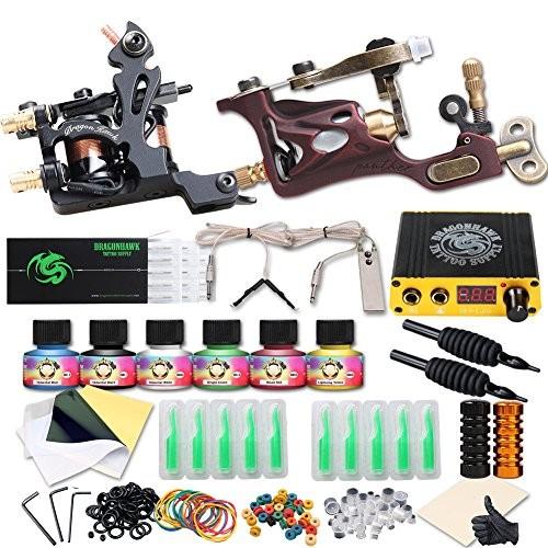UPC 701304878059   Dragonhawk Complete Tattoo Kit 2 Pro Machines ...