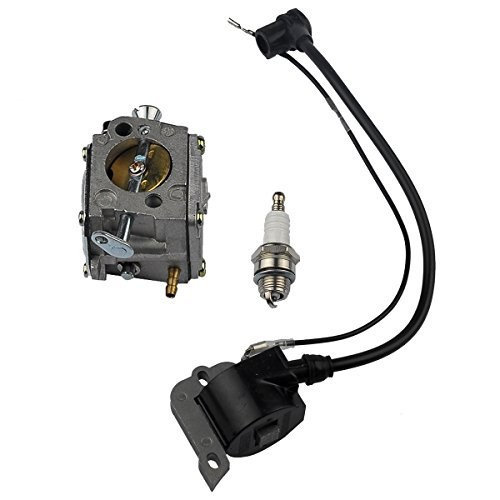 HIPA Ignition Coil + Spark Plug + Carburetor for Husqvarna 61 266 268 272  272XP Chainsaw