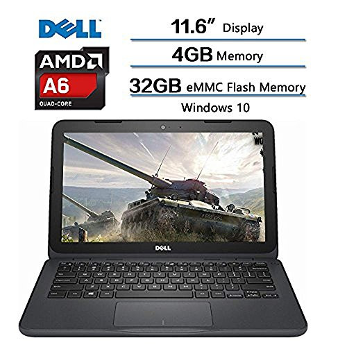 2018 Dell Inspiron Flagship High Performance Laptop, AMD A6-9220e  accelerated processor 2 5GHz, 11 6 inch HD (1366 X 768) Display, 4GB DDR4  SDRAM,