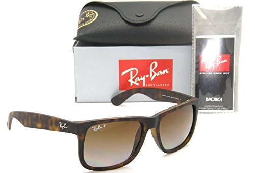 60a55bf69cf UPC 712324255355. Authentic Ray-Ban Justin RB 4165 865 T5 55mm Rubber Havana    Brown Gradient Polarized