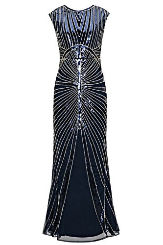 d8abf6caac7a UPC 704795790893. Metme Women s 1920s V Neck Beaded Fringed Gatsby Theme  Flapper Dress for Prom