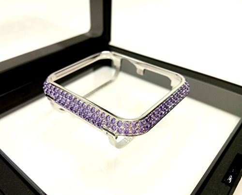 new arrival a65bf abb7e Bling-bling Color Diamonds Metal Bezel Case for Apple Watch iWatch S1/S2/S3  Sports&Edition Non-Ceramic Version Smaller Size 38MM (Purple Diamonds)