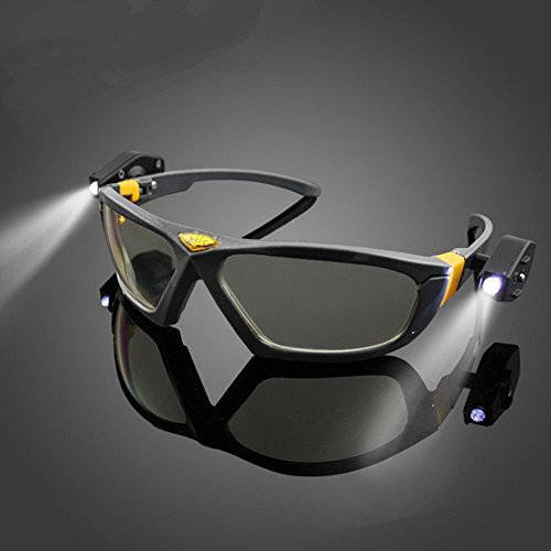 b6730351efd Riding Cycling Safety Glasses Clear Anti-fog Eye Protective Goggles with  Lights