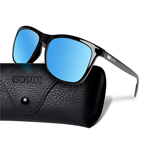 5abcfbe8a77 UPC 734747383507. Polarized Wayfarer Sunglasses For Men -GOUDI Vintage Men  Women Sunglasses Al-Mg Metal Frame Ultra Light GD8001
