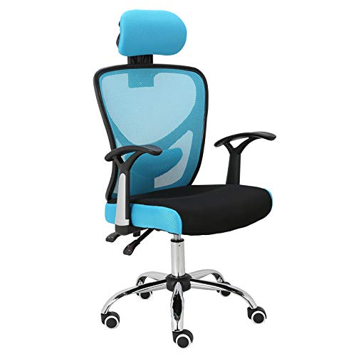 Upc 751433683246 Ergonomic Mesh Office Chair Homefun Adjustable Computer Desk Chair With Headrest Comfortable Backrest Task Chair Swivel Rolling Chair Blue Barcode Index