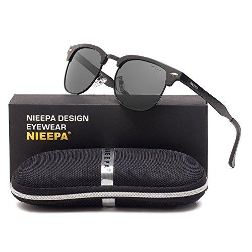 d80b2c273aa visibility · UPC 763383554552. Semi Rimless Polarized Sunglasses Classic  Aluminum Magnesium Frame Wayfarer Sun Glasses Men Women Vintage ...
