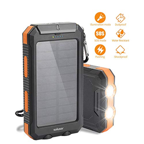 UPC 765470859984 - Solar charger Soluser 10000mAh Portable