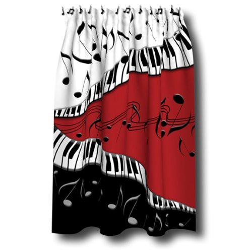 UPC 781669021741 PIANO Keys MUSICAL Note SHOWER Curtain
