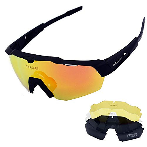 673453418f UPC 678279260861. GIEADUN Sports Sunglasses Protection Cycling Glasses with  4 Interchangeable Lenses Polarized UV400 ...