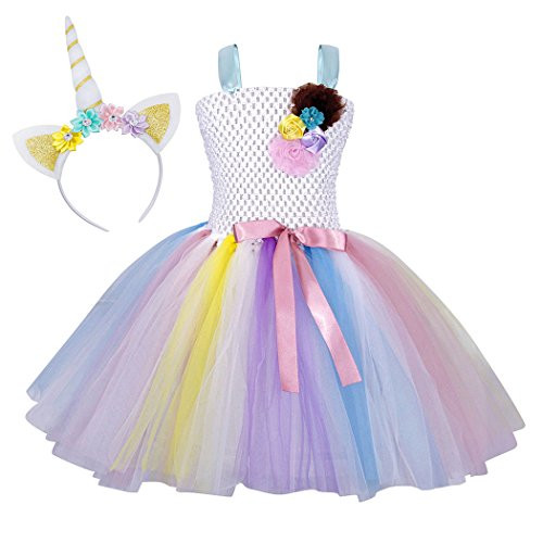 620c6bf8b UPC 794163939191. Cotrio Unicorn Tutu Dress for Little Girls Birthday Party  Halloween Costumes with Headband ...