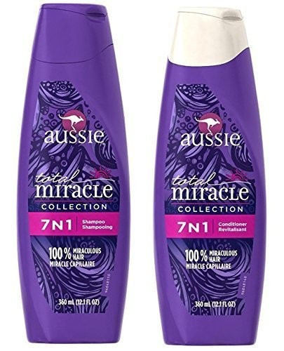 a01d5a10de31 Aussie Total Miracle Collection 7n1 Shampoo and Conditioner Set, 12.1 Fluid  Ounce Each (2 Pack)