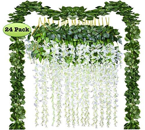 Upc 797961127258 24 Pack Artificial Fake Wisteria Vine Rattan