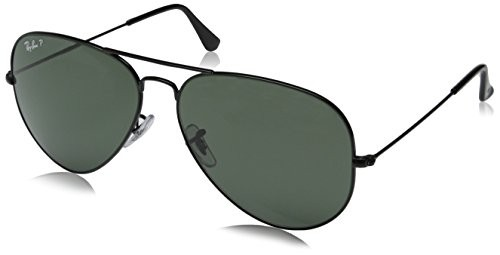 da99f33c3e2 UPC 805289115700. Ray Ban RB3025 Aviator Sunglasses-002 58 Black (Green  Polarized ...