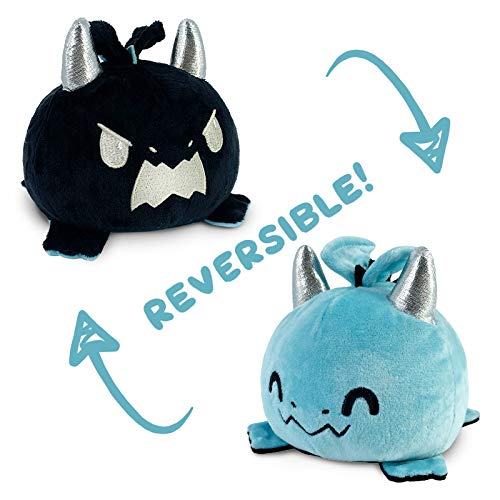 TeeTurtle The Original Reversible Panda and Red Panda Plushie Show Your Mood Without Saying a Word! Black and Red Patented Design