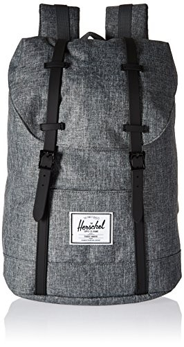 eebea7a2db22 Herschel Supply Co. - Retreat (Raven Crosshatch Black Rubber) Backpack Bags