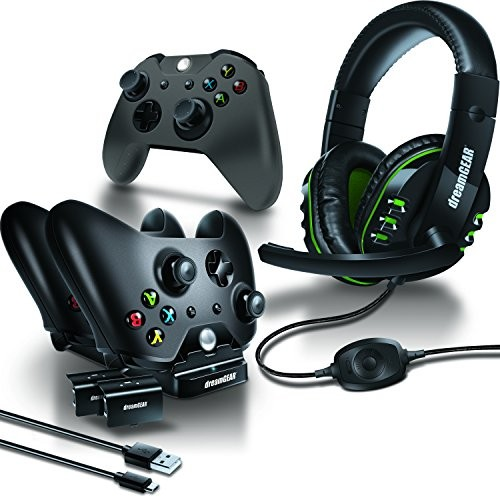 dreamGEAR - Gamer's Kit - includes charge dock/sync cable/headset/silicone  controller cover - Xbox One