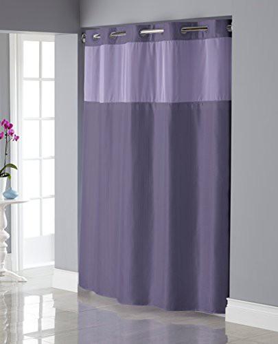 UPC 877003007028 Hookless Shiny Texture Herringbone Shower Curtain