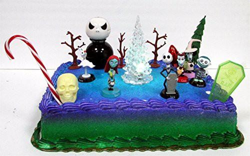 JACK Nightmare Before Christmas Edible Image Cake Topper Birthday Decoration Sugar Sheet Skellington Sally Halloween Party