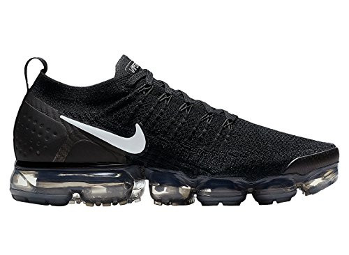 NIKE AIR VAPORMAX FLYKNIT 2 SZ 10.5 BLACK WHITE GREY METALLIC SILVER 942842  001 78b1e8751