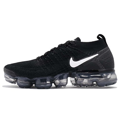88d5e77643d0 NIKE WOMENS AIR VAPORMAX FLYKNIT 2 SZ 9.5 BLACK WHITE GREY SILVER 942843 001
