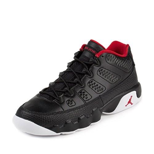 d1729f12c6058 Jordan Air 9 Retro Low BG Big Kid's Shoes Black/Gym Red/White 833447-001 (7  M US)