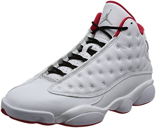 7c67c4324589 UPC 886737155257. Nike Air Jordan 13 Retro Men s Basketball Shoes White Metallic  Silver University Red ...