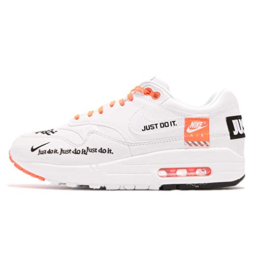 free shipping ba41e 99a35 UPC 888408317438. NIKE Women s WMNS Air Max 1 LX, White Black-Total Orange  ...