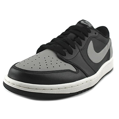 b79d7b3f9e5 jordan 1 retro low og men round toe leather black basketball shoe