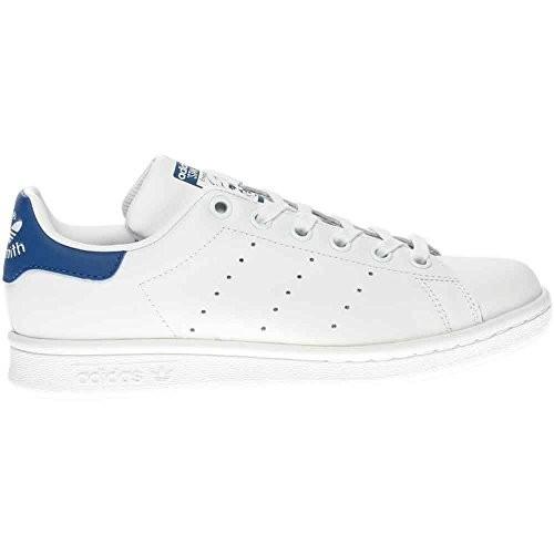 cfc65659f4f3 Adidas Originals S74778  Boys  Stan Smith J White Equipment Blue Skate Shoe