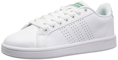 buy popular 43a7d c28d6 adidas NEO Mens Cloudfoam Advantage Clean Sneakers, WhiteWhiteFairway,  (10.5 M US)