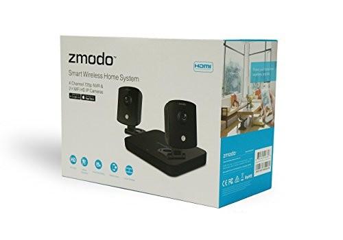Zmodo ZM-KW1002-I-500GB 720p HD Smart Wireless Home Kit with 2 Indoor Wi-Fi  Security Cameras (Black)
