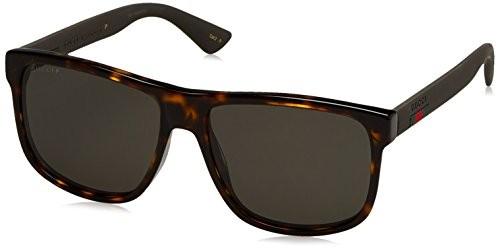 ab71e3f815 UPC 889652047584. Gucci GG 0010S 003 Dark Havana Plastic Rectangle  Sunglasses ...
